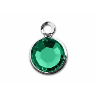 May Birthstone Channel Charm