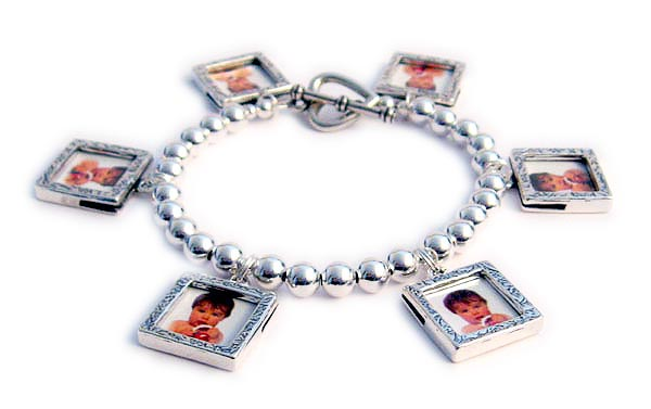 Picture Frame Charm Bracelet With Picture Frame Charms Charm