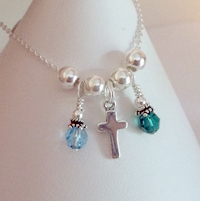 Small Simple Cross Charm