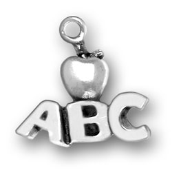 ABC Charm Teacher Charms Apple Charm