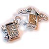 Silver Prayer Box Charms for bracelets. Blessing Box Charm for a bracelet.