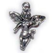 Angel charm with wings  sterling silver