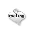 Sterling Silver Courage Charms