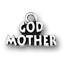GOD MOTHER sterling sivler Charm