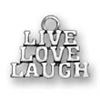 Sterling Silver Live Love Laugh Charms