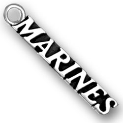 Sterling Silver US Marine Charm
