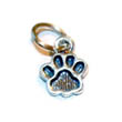 sterling silver paw print charm small