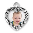 Heart shaped picture frame charm