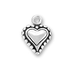 Small Beaded Heart Charm