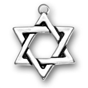 Sterling silver charms sterling silver star of david pendant aloadofball Choice Image