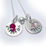 Hand Stamped Necklace - KIDS