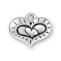 Heart within a Heart Charm