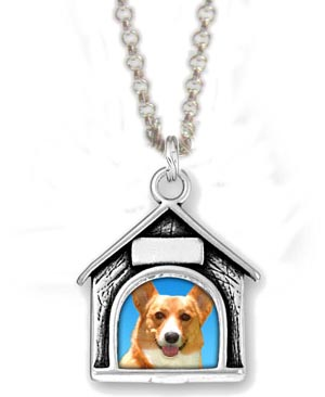 Dog PIcture Frame Charm Necklace