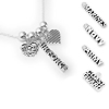 Military mom charm necklaces