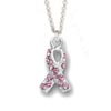 Small Pink Breast Cancer Awareness Necklace