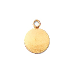 8mm Gold-Filled Flat Round Charm Made in: USA