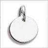 Engravable Circle Charm -  sterling silver
