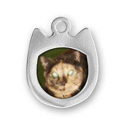 Sterling Silver Cat Picture Frame Charm