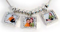 picture frame charm necklaces